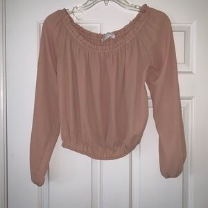 dusty rose pink top